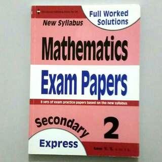 Sec 2 Math Exam Papers