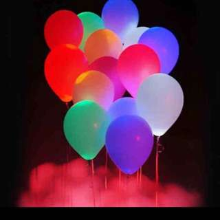 LED Helium Balloons! 5 Pieces!