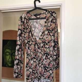 Size 12 floral jumpsuit