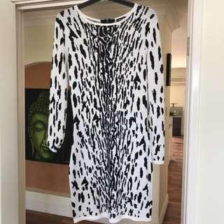 Black and white size 12 Bardot dress