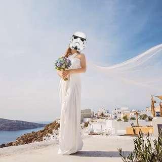 希臘風格多穿法白色渡假洋裝