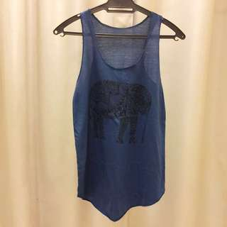 Printed Sleeveless Cotton Top **Marked down**