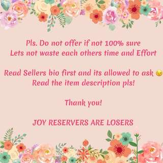 REMINDER: Joy Reservers Are Losers