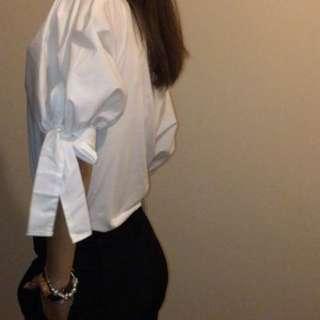 White dress top