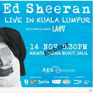 [FOR SALE] 2 Tickets to Ed Sheeran Concert
