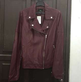 Forever 21 Maroon Leather Jacket