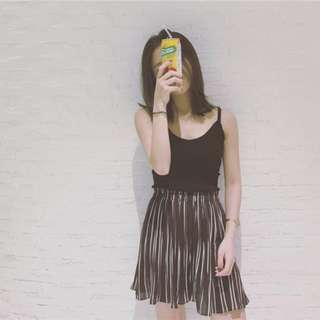 INSTOCK Stripes Pleated Shorts