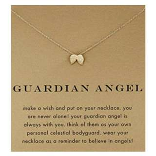 GUARDIAN ANGEL pendant necklace gold dipped