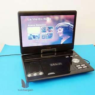 vtrek 13.5 inch Portable DVD Player Analog TV AV / Computer Monitor USB Mp3 Mp4 Player