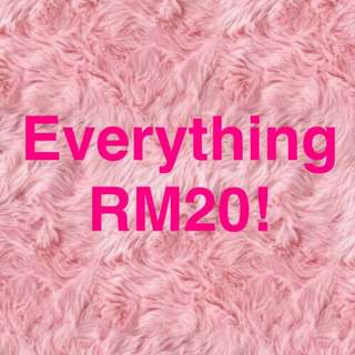 EVERYTHING RM20! 24 HOURS SALE!