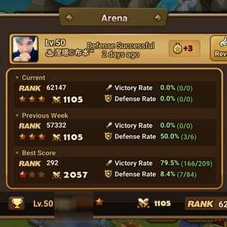 Summoners War Asia G1 Account