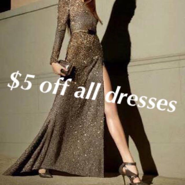 $5 Off All Dresses
