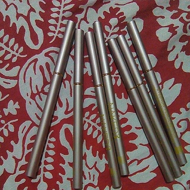 7 pcs Naked Black Eyeliner Pencil