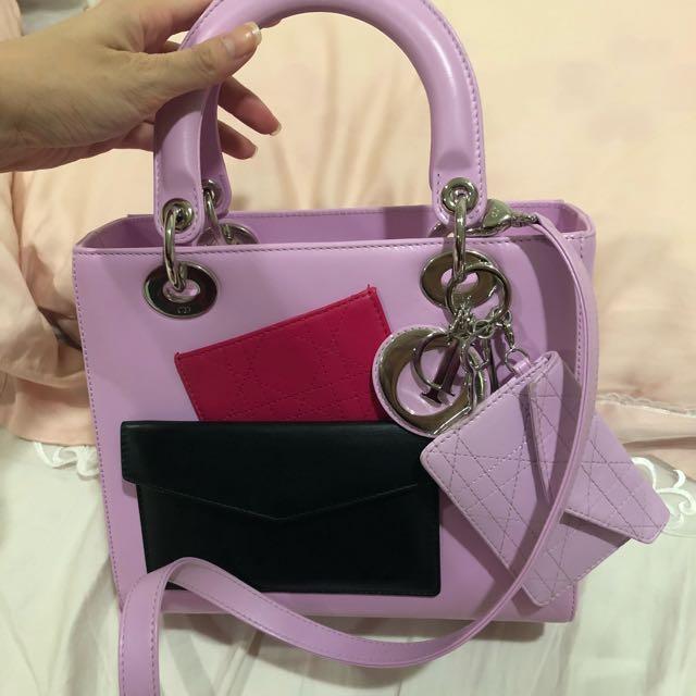 9成新 Dior 黛妃包 限量款 全配