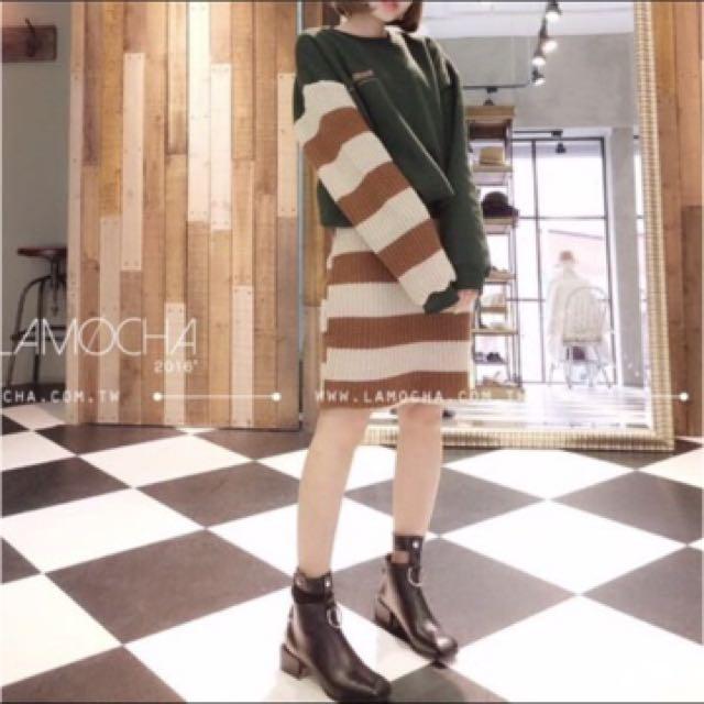 (正韓)不對稱連身裙