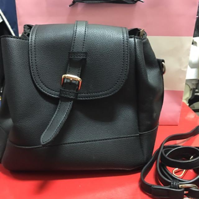 黑色 側背包