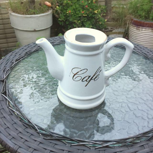 復古燙金陶瓷花器 牛奶壺