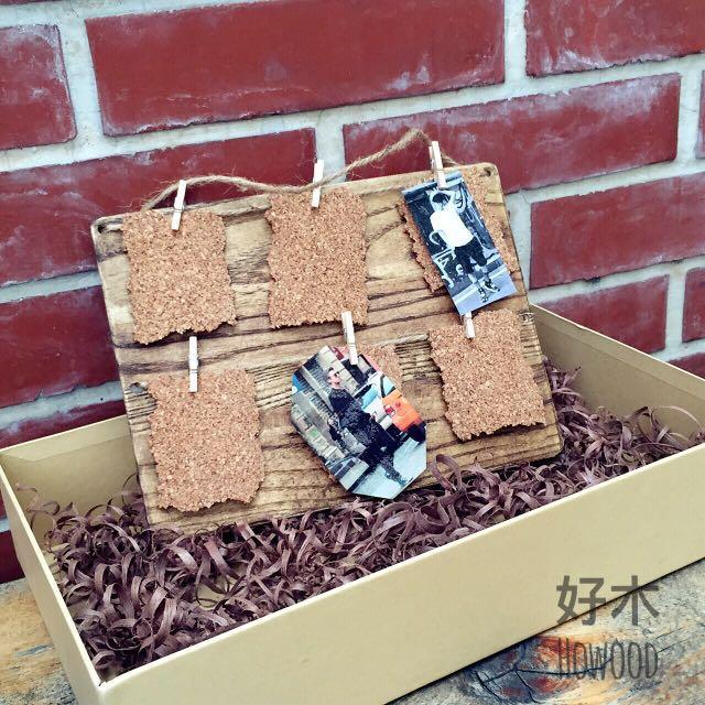 木製 卡片 吊飾 相框