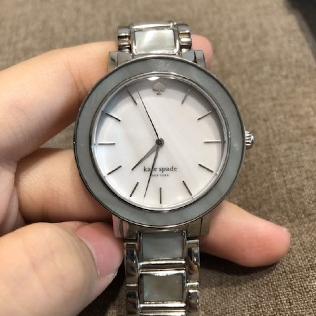 全新 KateSpade 超美淡藍色 貝殼邊 女用鍊錶