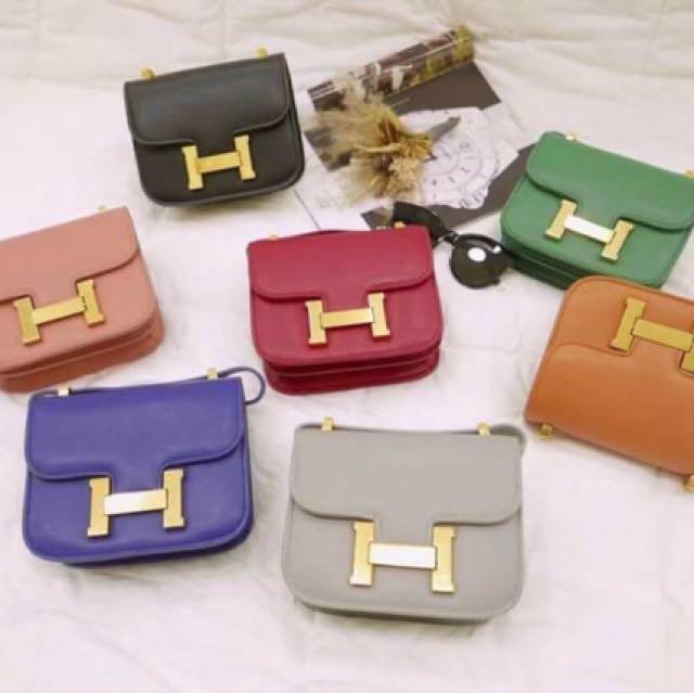 韓國購入 pu皮非真皮 H英文字 造型 小款斜背包 類似hermes 復古金屬色