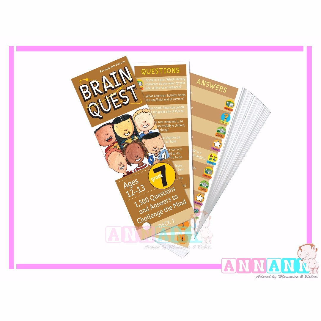☆Age 2-13☆Brain Quest English Flash Cards☆300-1500 Questions ...