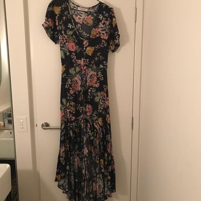 auguste the label long floral dress