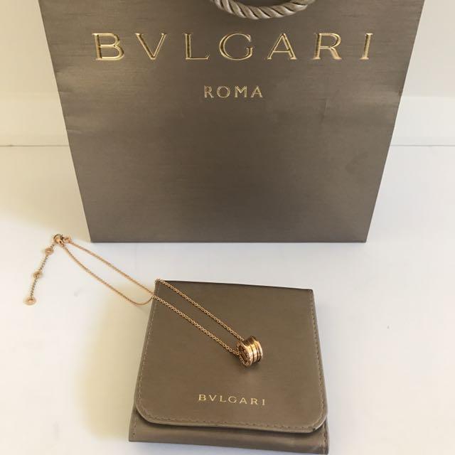 Authentic Bulgari 18k rose gold bzero1 necklace