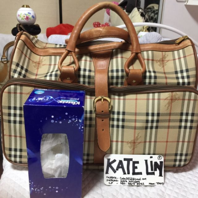Authentic Burberry Keepal Traveling Bag