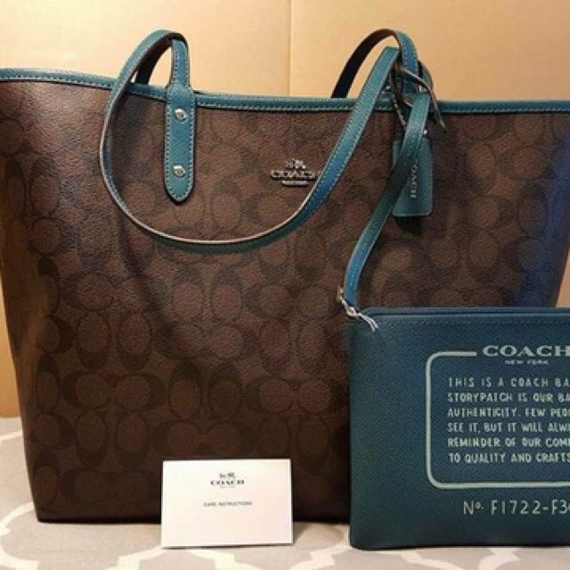 Authentic Coach Reversible Large Tote