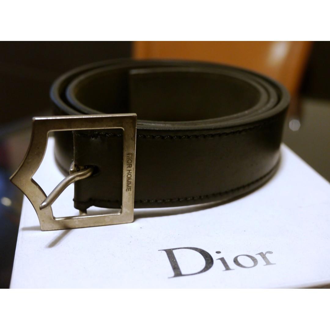 Authentic Iconic Dior Homme D point belt