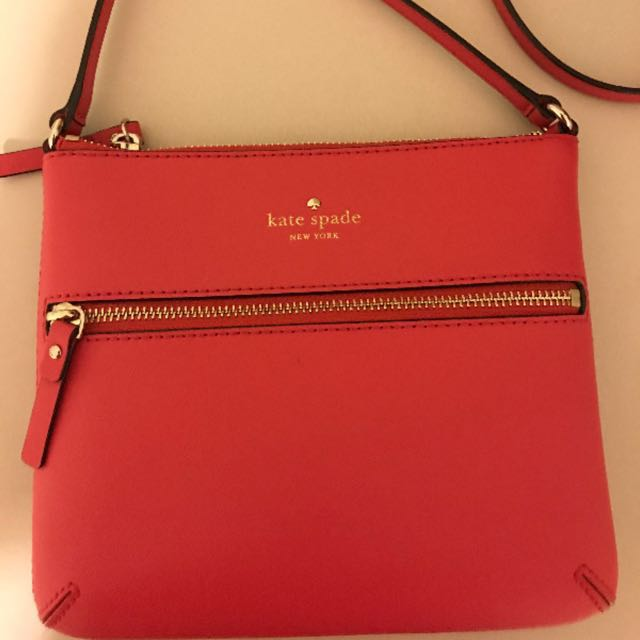 Authentic red Kate Spade Cross body purse