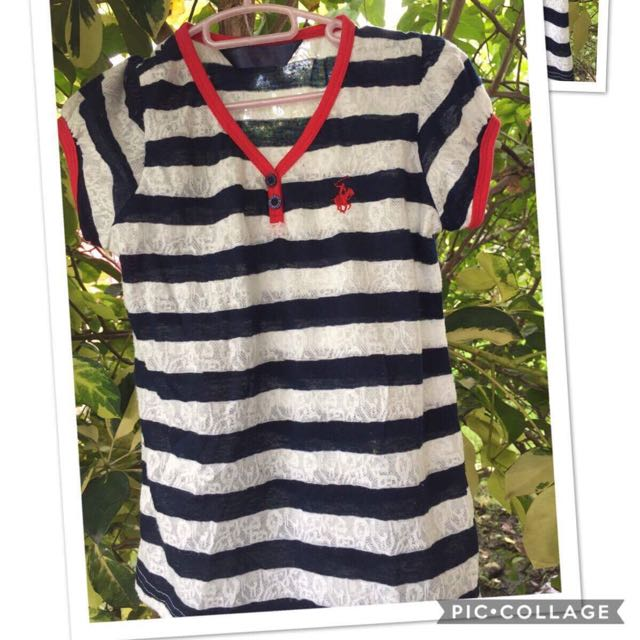 Authentic stripes kids shirt (4-6yo)