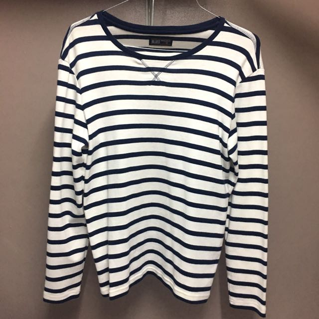 BLUED Striped Long sleeves (White and Blue)