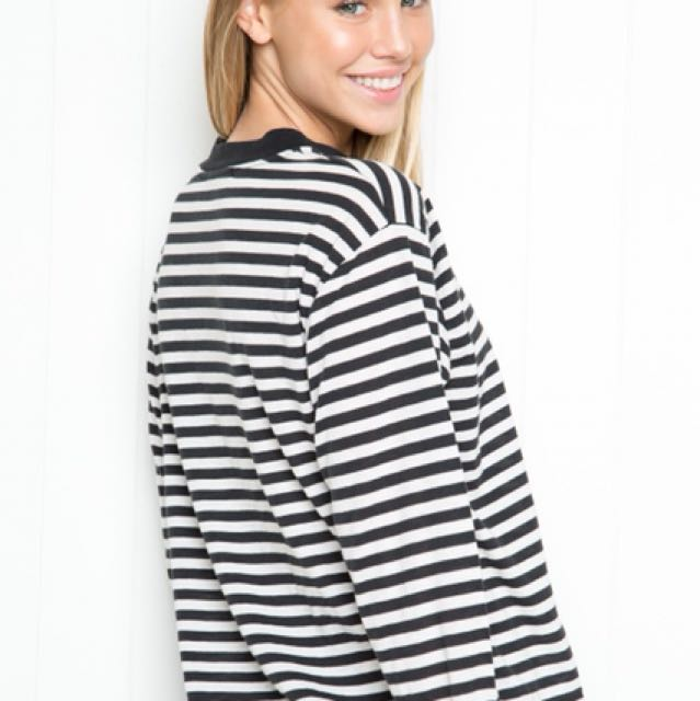 Brandy Melville Striped Longsleeve💛