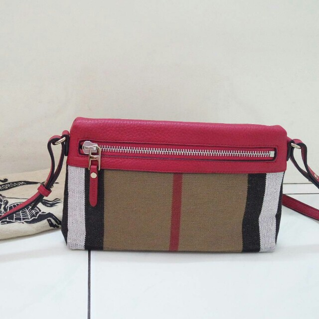 Burberry Authentic sling bag original tas asli selempang pink branded