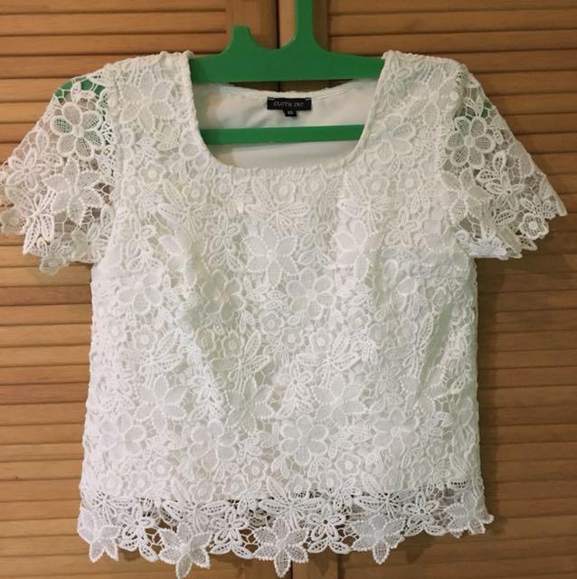 Cloth inc lace boxy shirt
