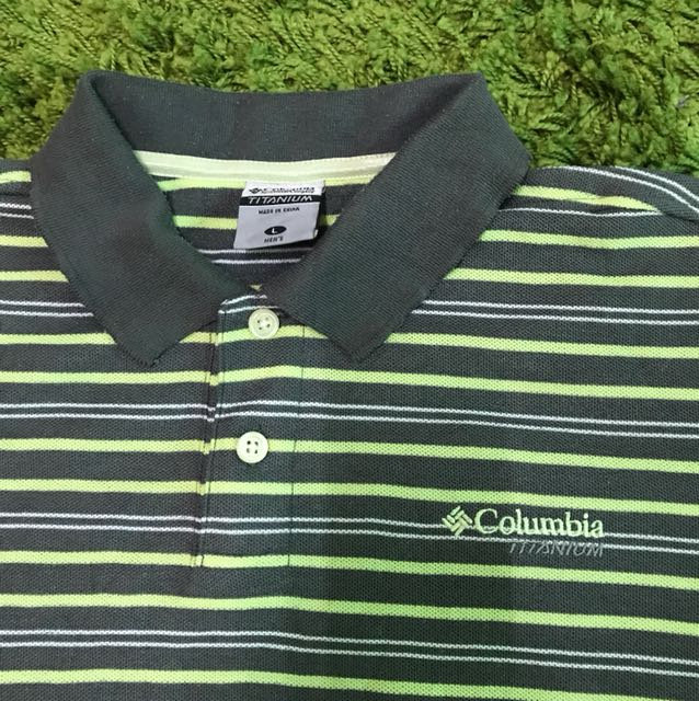 f17b32af268 Columbia TITANIUM polo shirt size L, Men's Fashion, Clothes on Carousell