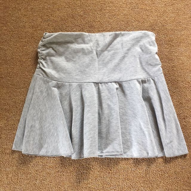 Cotton Mini skirt gray all size