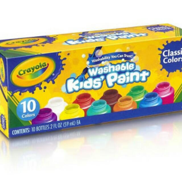 Crayola Washable Paint 10bottles freeongkir jabodetabek