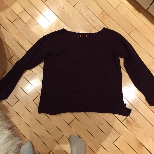 Cute women's knitted sweater