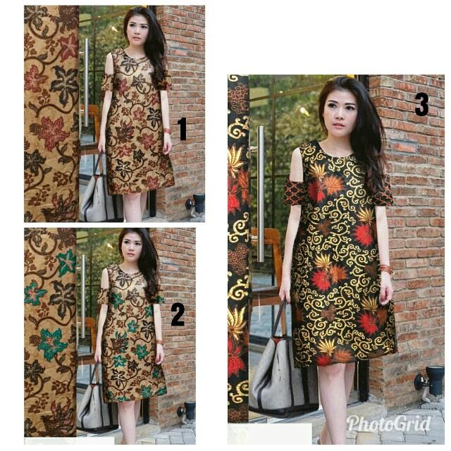 Dress batik jumbo Off
