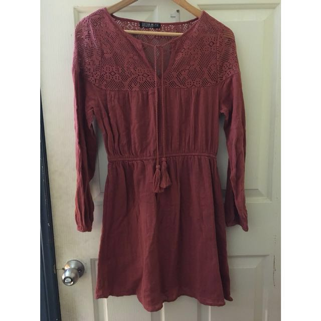 Dress with tassel size S