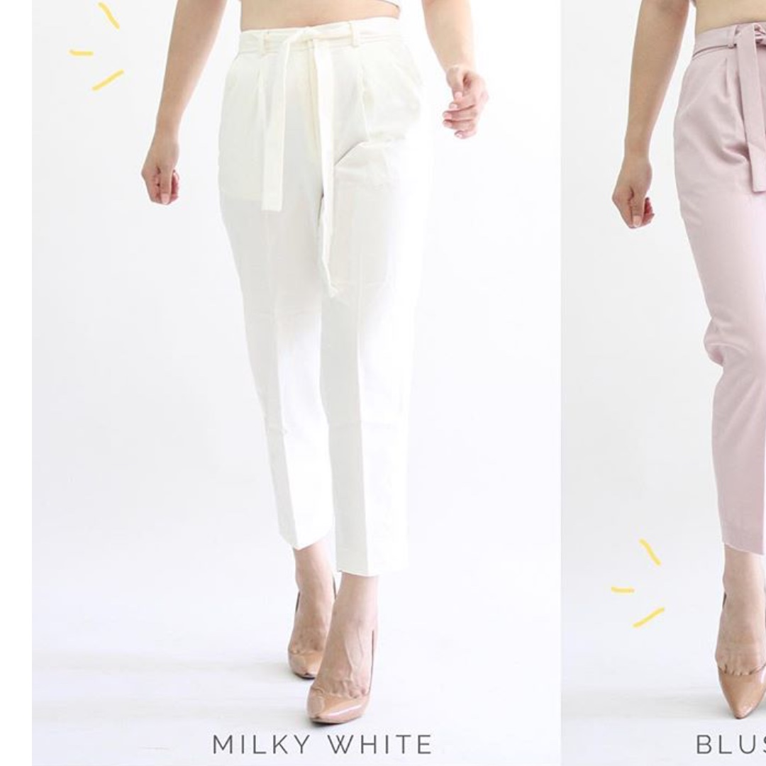 Eclair peg trousers (drill) off white