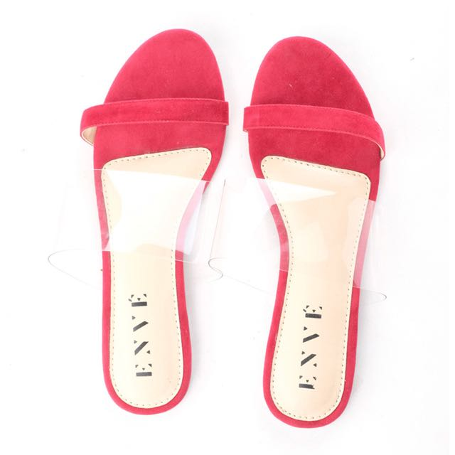 Enve Mika Sandals in Red size 36