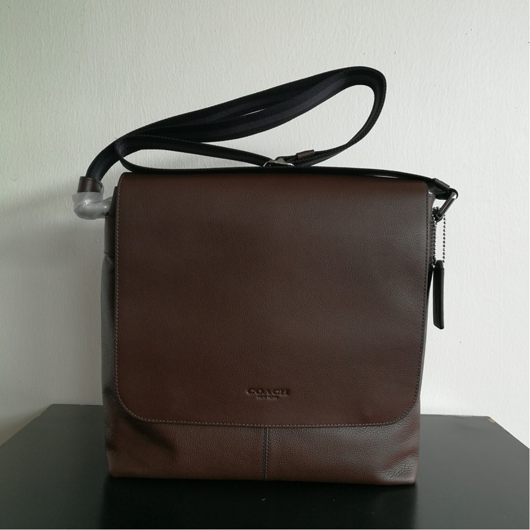 9e1d5145161e F72362 COACH CHARLES SMALL MESSENGER IN SPORT CALF LEATHER MAHOGANY ...