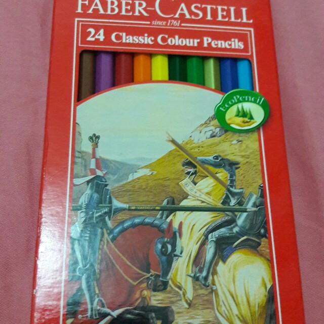 Faber-Castell 24 Classic Colour Pencils with sharpener
