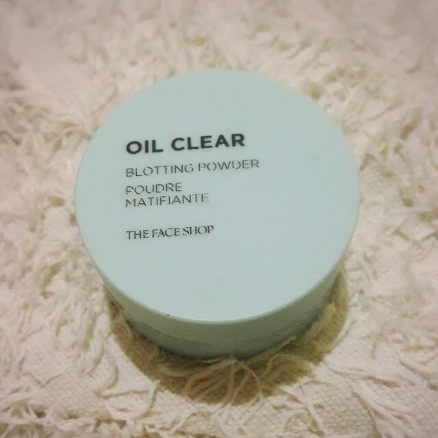 🎀Faceshop Oil clear loose powder