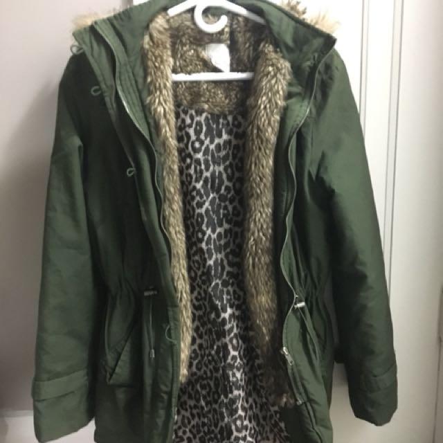 Faux fur coat size 6 - Costa Blanca