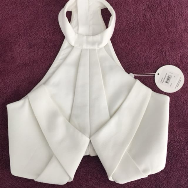 Finders Keepers White Crop Top RRP $140