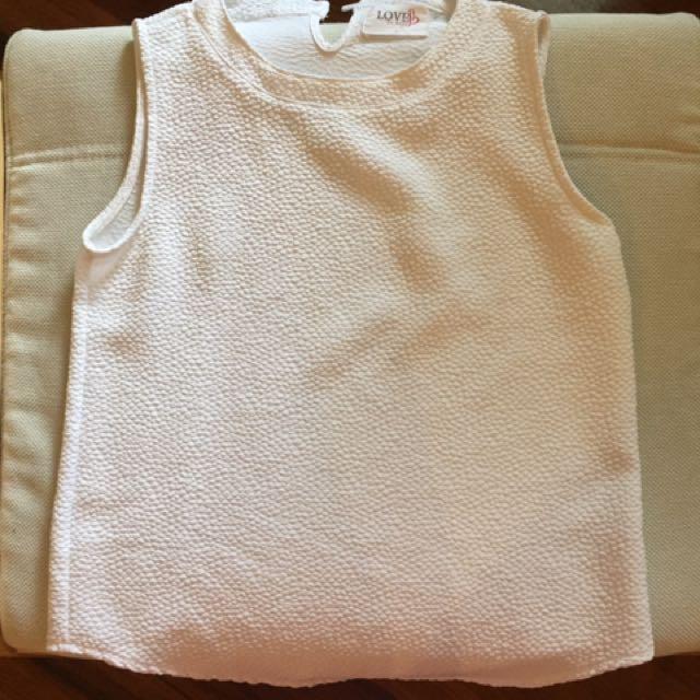 Forever 21 white sleeveless top